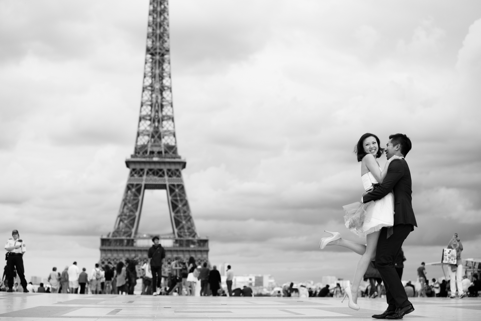 photos de couple trocadéro