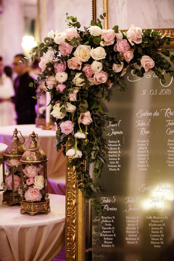 mariage oriental au Pavillon de la Comtesse du Barry décoration