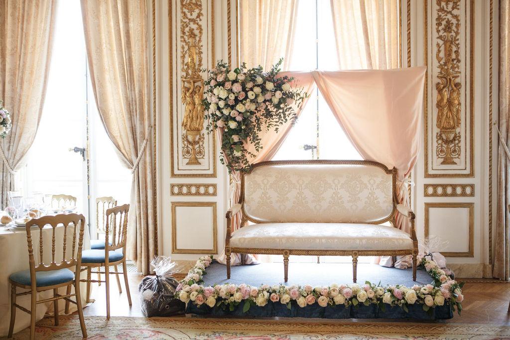 mariage oriental au Pavillon de la Comtesse décoration