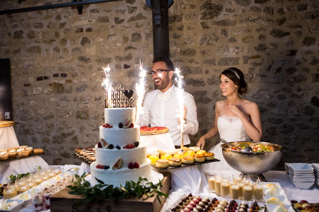 mariage au chateau de la trye pièce montée