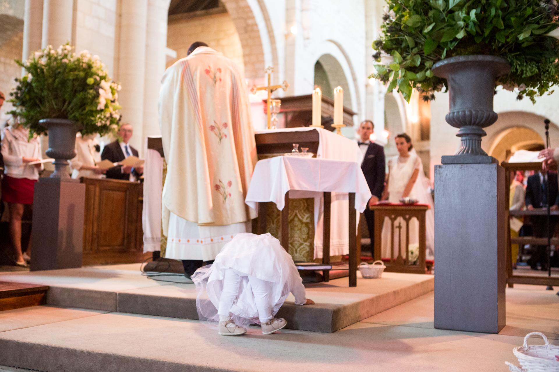 photographe de mariage à l'église de chantilly