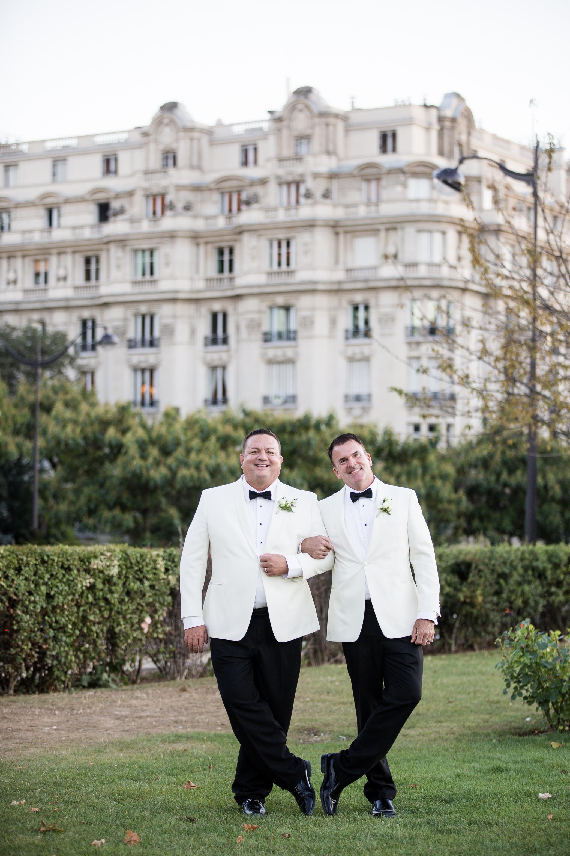 same sex elopement wedding in paris france