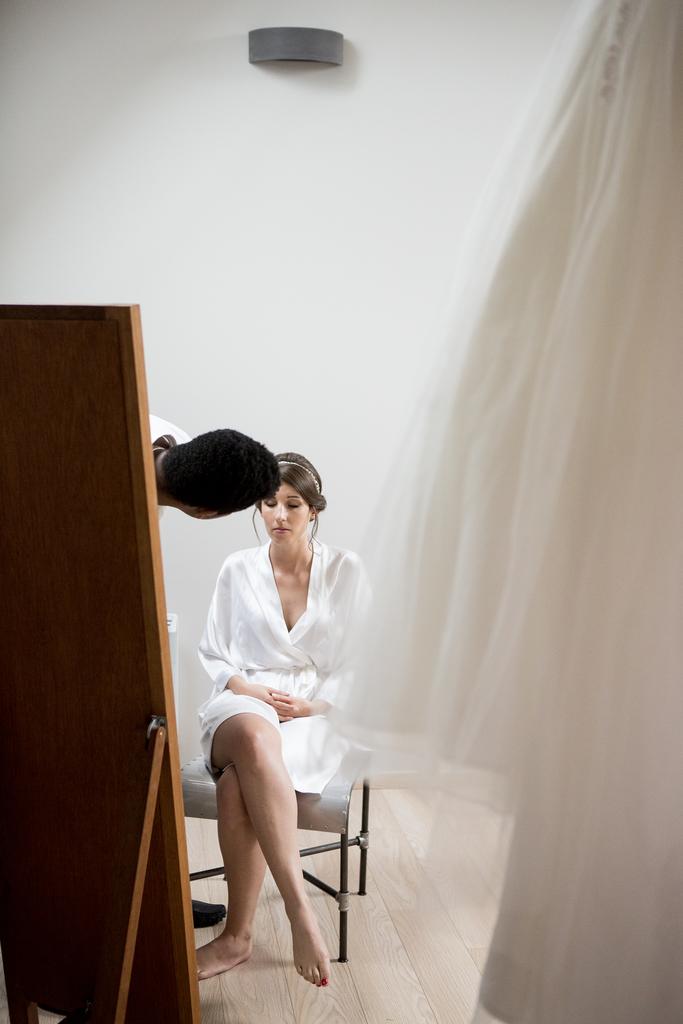 préparation de la mariée au Château de la Trye